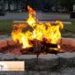 An impromptu camp fire
